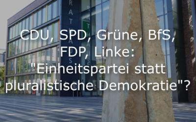"""Gemeinsame Erklärung zu der Analyse """"AfD steht im politischen Abseits"""" des Solinger Tageblatts vom 03.03.2020"""