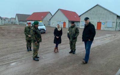 Kreissprecherin besucht das Gefechtsübungszentrum Heer mit der größten Kampfstadt Europas namens Schnöggersburg