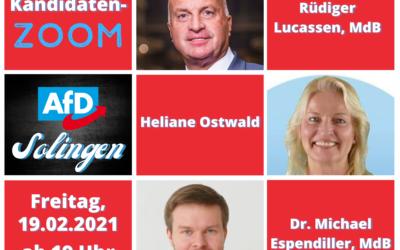 AfD Solingen lädt zum ersten Online-Stammtisch ein